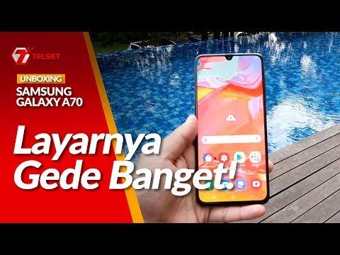 SAMSUNG Galaxy A70 Unboxing, Layarnya Gede Banget!
