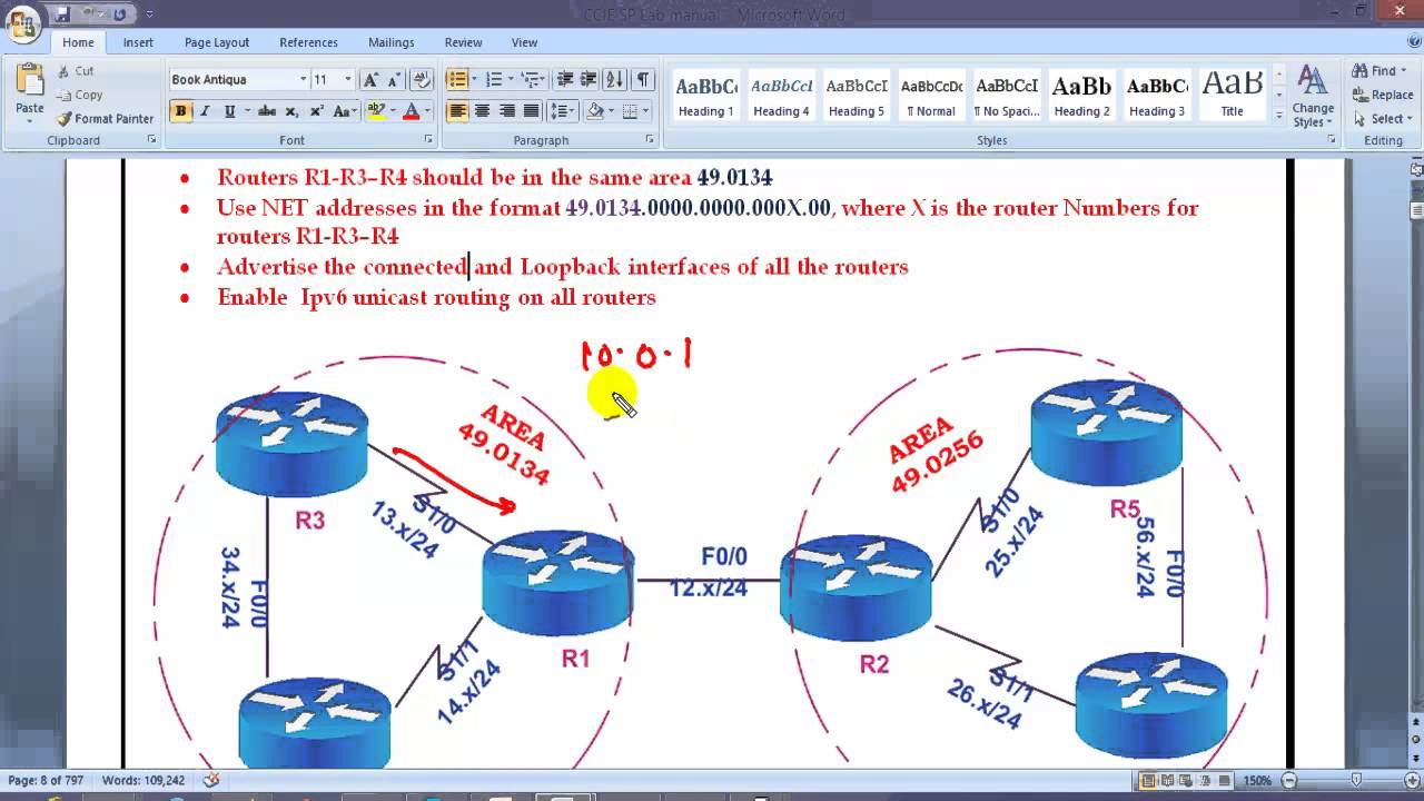 CCIE Routing & Switching V5: ISIS Configuration- IPv4-v6