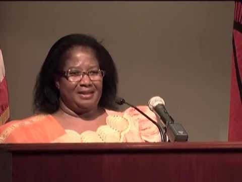 President Joyce Banda of the Republic of Malawi speaks at Troy University's Montgomery Campus