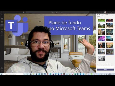 Trocando o plano de fundo em reuniões do Microsoft Teams