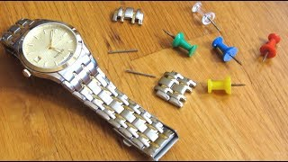 Remove Watch Links wİth Thumb Tacks | Adjust Resize Shorten Watch Band | How To No Tools