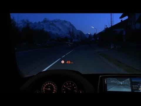Preview Of The Bmw 650i Heads Up Display Youtube