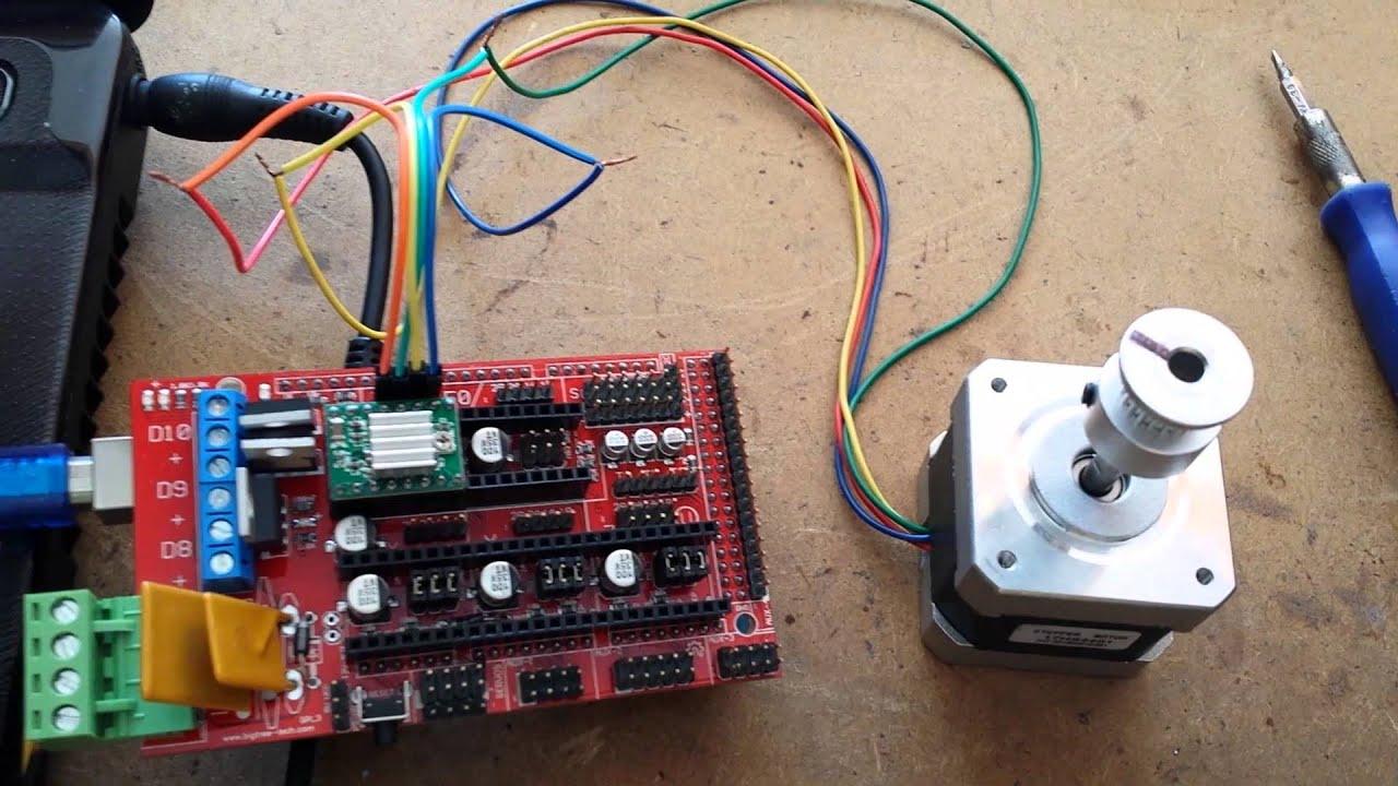 4 Wire Motor Diagram Arduino Mega Shied Ramps 1 4 Driver A4988 Motor Nema