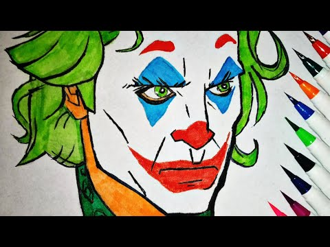 Drawing joker in 10 min.🤡                     #Arthurfleck#joaquinphoenix#Joker#PencilSketch#drawing
