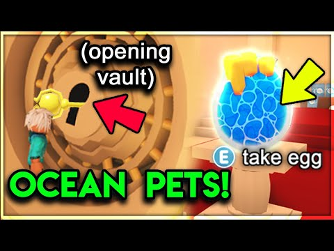 HOW TO GET SEA PETS IN ADOPT ME! THE VAULT KEY LOCATION 🔑 (Adopt Me Update)