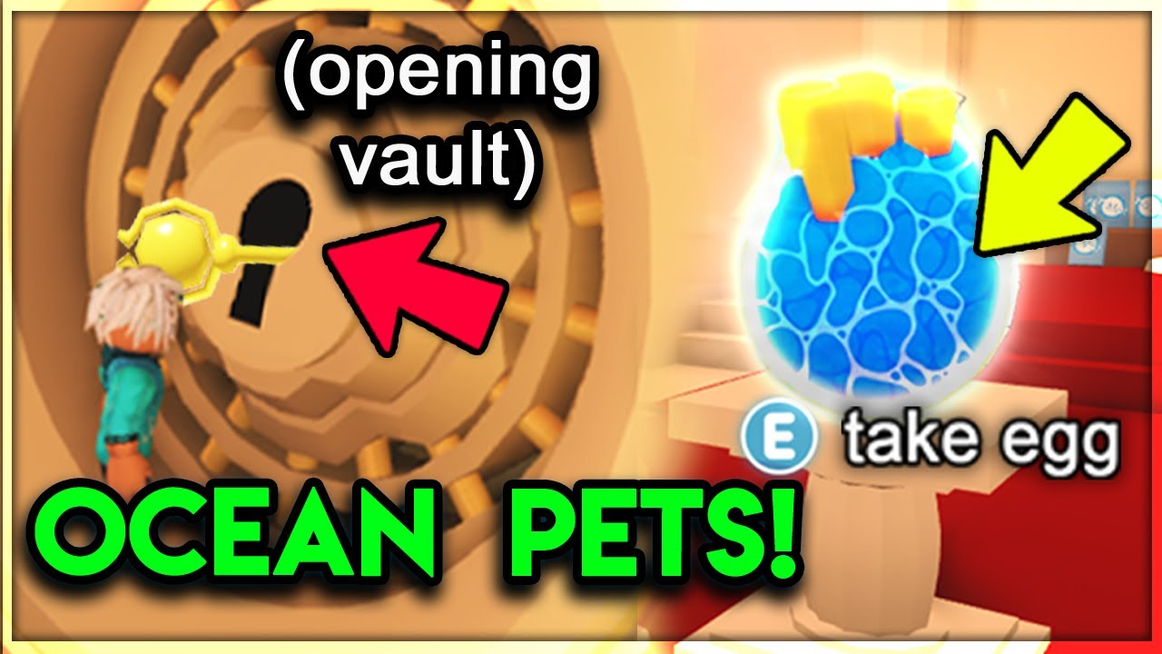 How To Get Sea Pets In Adopt Me The Vault Key Location Adopt Me Update Youtube