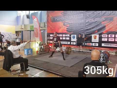 Absolut Winner Europe Champion Deadlift 305kg 320kg 330kg bw 108 kg