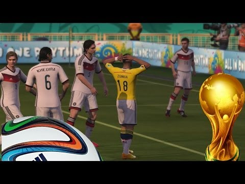 2014 Fifa World Cup - SemiFinal, Alemania Vs Colombia, Un duro encuentro Gameplay Xbox
