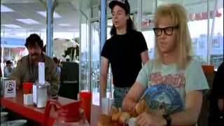 Wayne's World Donut Head man scene