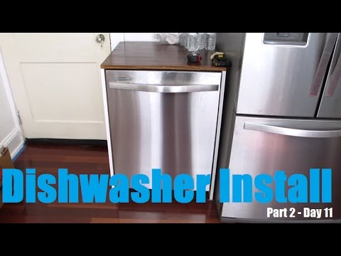 How to Install Whirlpool Dishwasher - Kitchen Reno Day 11 ...