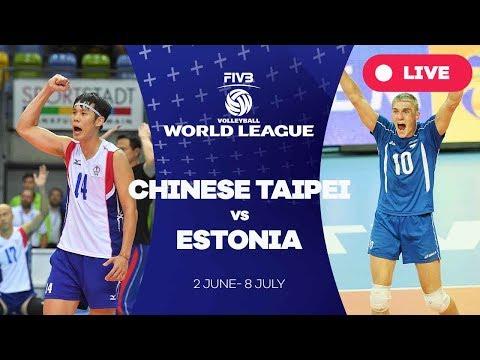 Chinese Taipei v Estonia - Group 3: 2017 FIVB Volleyball World League