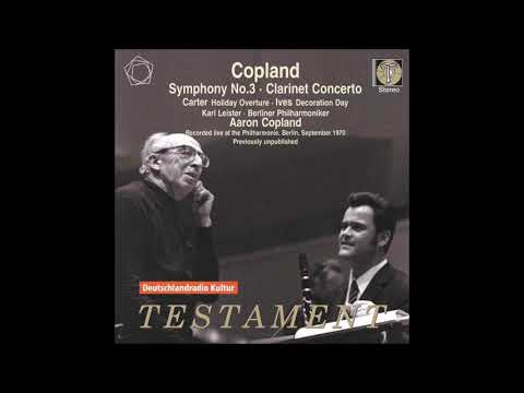 Copland Clarinet Concerto Leister