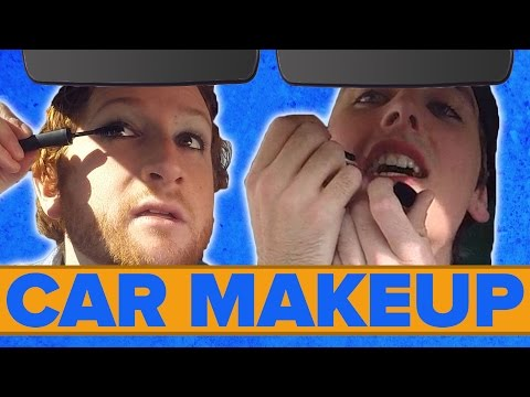 Dudes Put On Makeup In The Car