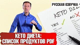 ЗДОРОВЫЙ КЕТОЗ: Что можно есть на кето-диете. Список продуктов PDF (русская озвучка)