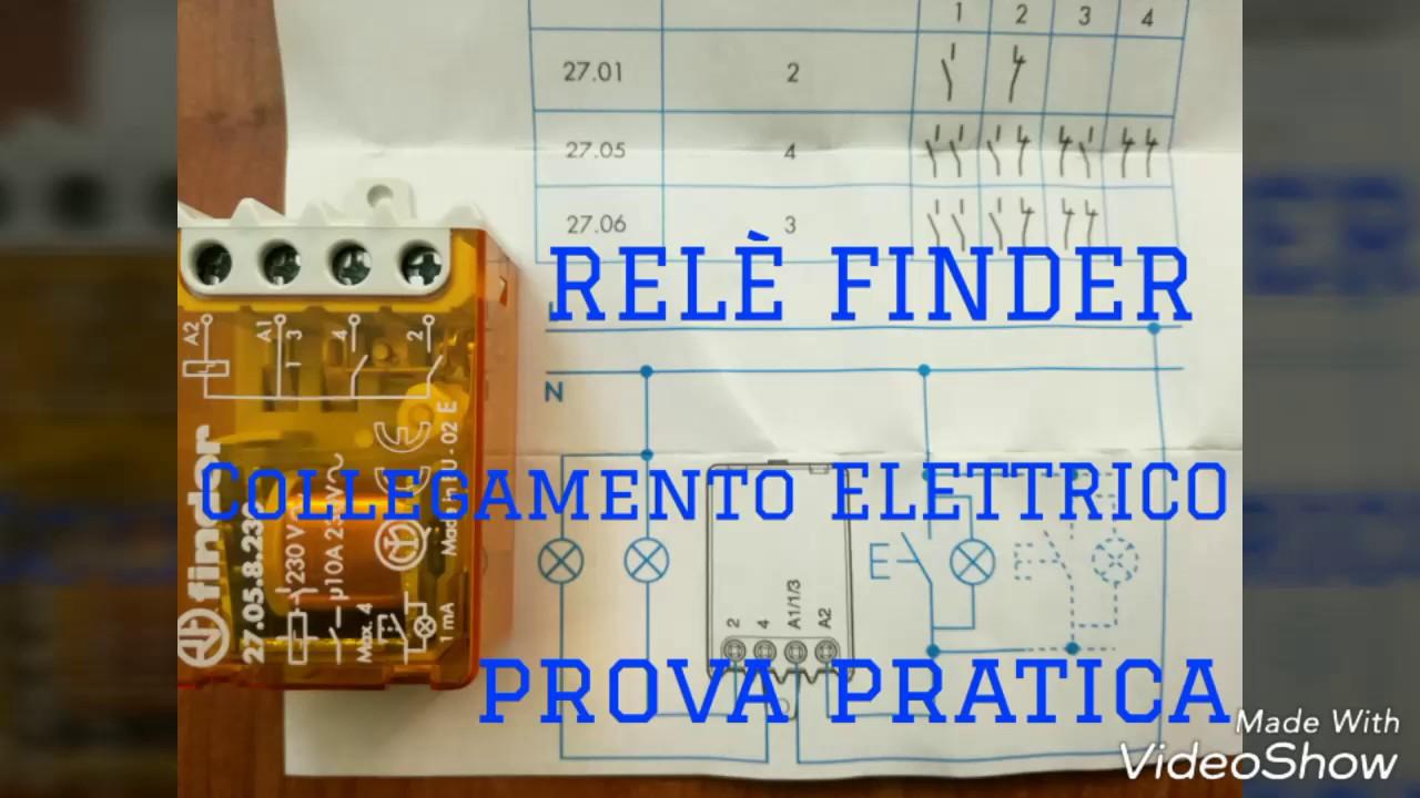 Schemi Elettrici Unifilari E Multifilari : Come collegare elettricamente un relè commutatore schema