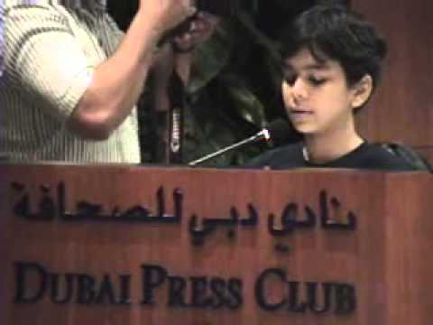 Yuji Los Banos with Kids Dubai Press Club