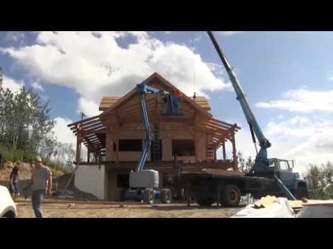 Timber Framed Covered Decks - Owner Building a Home in Alaska EP16