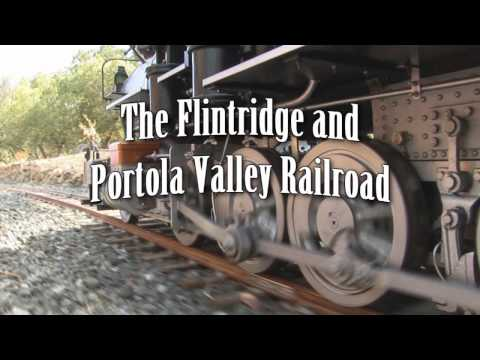 Flintridge and Portola Valley Railroad Live Steam Denver & Rio Grande Narrow Gauge trailer (HD)