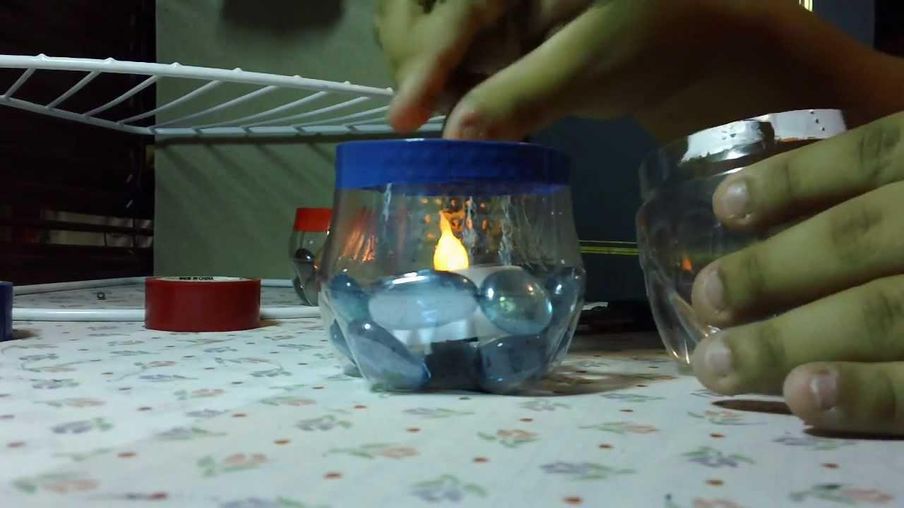Porta velas reciclado youtube - Botellas con velas ...