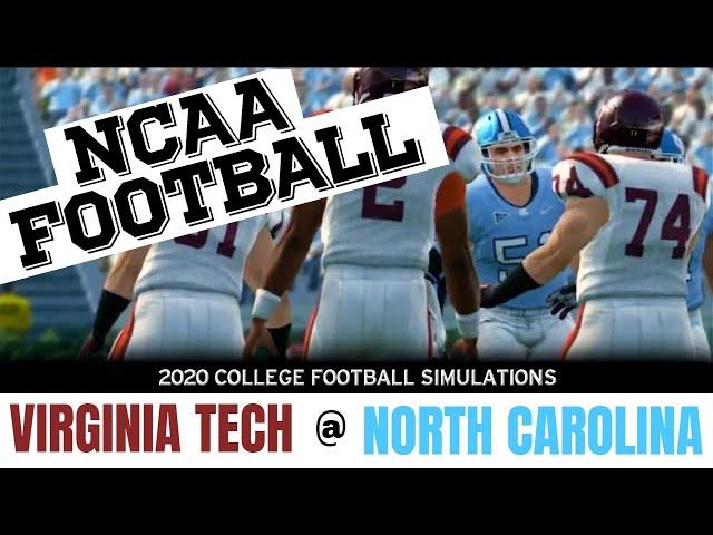 2020 Virginia Tech at North Carolina NCAA Football simulation