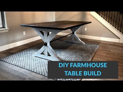 DIY Pipe Stretcher Style Farmhouse Table