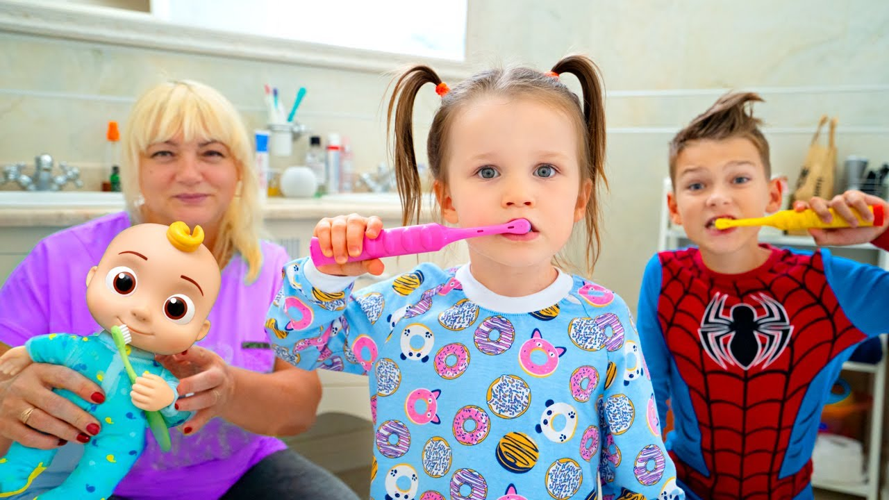 Five Kids Bedtime & Brush Your Teeth + more Children's Songs and Videos