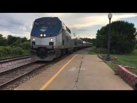 A Trip on Amtrak 382 - 383 Carl Sandburg and Illinois Zephyr Quincy to Galesburg