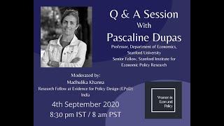 Q&A Session with Pascaline Dupas