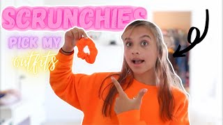 COLORED SCRUNCHIES PICK MY OUTFITS FOR A WEEK! *blind folded* ⭐️  | Bella Fayth!