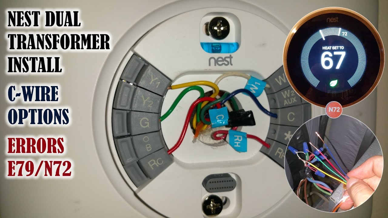 hight resolution of nest thermostat install on a dual transformer system how to obtain a c wire