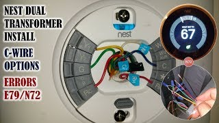 Nest thermostat Install on a dual transformer system - how to obtain a C wire