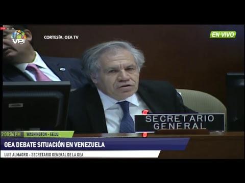 EEUU - Juan Guaidò fue reconocido como presidente de Venezuela por mayoría de la OEA - VPItv