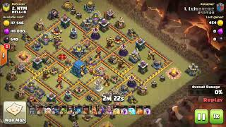 COC minor attack and Town Hall 12 smashed