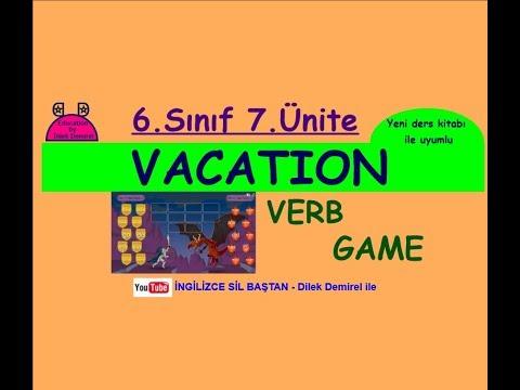 İngilizce 6. Sınıf 6. Ünite Vacation GAME (Yeni MEB kitabı uyumlu)