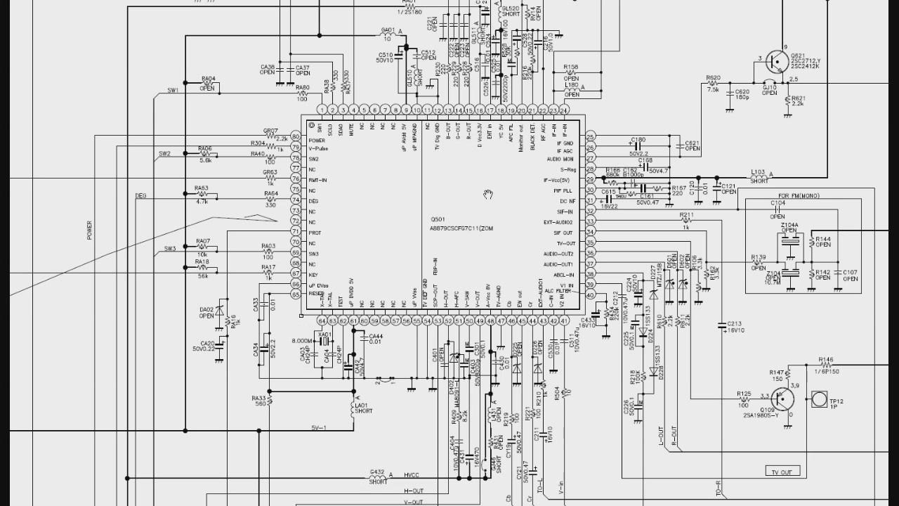 015 Função dos pinos do CI UOC dos televisores de tubo