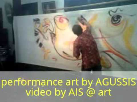 Performance art by AGUSSIS di jokteng Solo