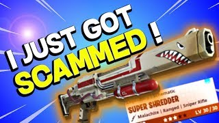 SCAMMER *STOLE* MY LEGENDARY WEAPON!!! | Blind Trading in Fortnite Save the World PVE