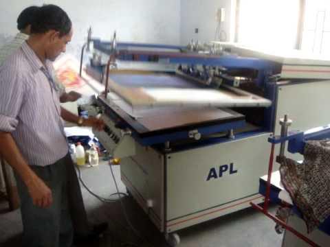 e6850c9a1 Semi Auto Flat Screen Printing Machine - YouTube