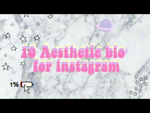 10 Aesthetic bio for instagram/facebook/twitter etc.
