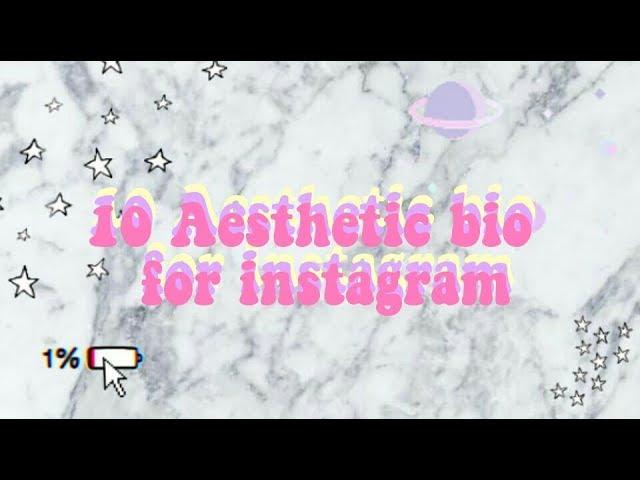 10 Aesthetic Bio For Instagram Facebook Twitter Etc Youtube