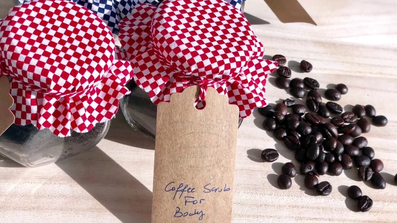 مشروع من البيت صنع مقشر القهوة Youtube Coffee Scrub Diy Handmade Coffee Scrub