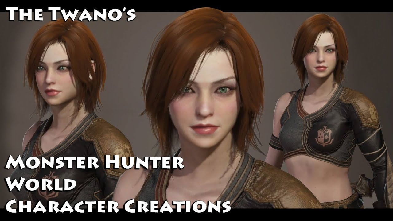 monster hunter world character creation cute female 3 youtube