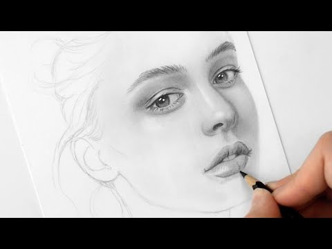 How to draw a face for beginners from sketch to finish   Emmy Kalia
