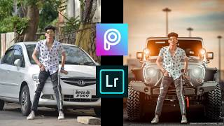 Royal Jeep Photo Editing In PicsArt   Background Change With Easy Step + Lightroom Colour Grade 2020 screenshot 1