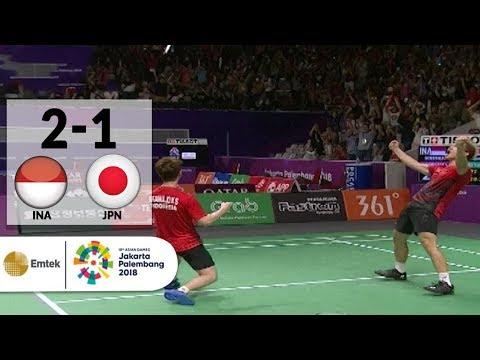 INA v JPN - Badminton Ganda Putra: Gideon/Sukamulio v Inoue/Kaneko | Asian Games 2018