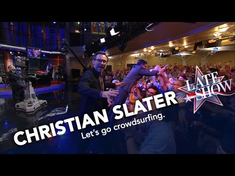 Christian Slater Inspires the Late 's Crowdsurfing Craze