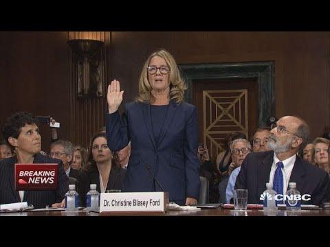 Christine Blasey Ford begins Senate testimony against Brett Kavanaugh