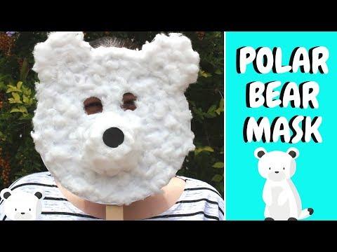 Winter Crafts for Kids   Paper Plate Polar Bear Mask