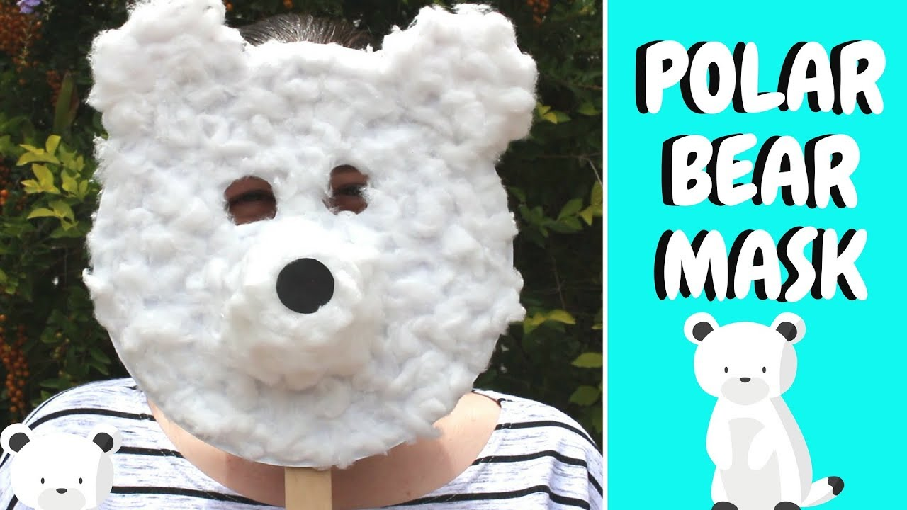 Winter Crafts for Kids | Paper Plate Polar Bear Mask - YouTube