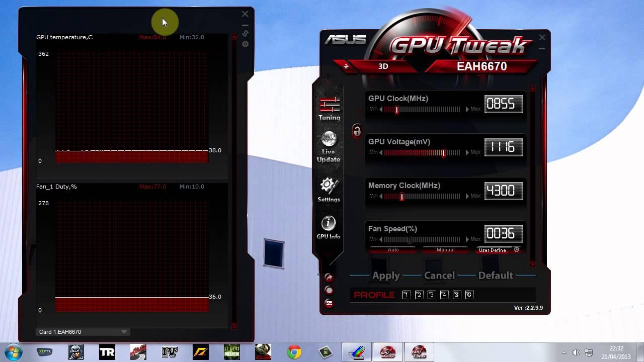 How To Overclock Asus ATI Radeon HD 6670 1GB GDDR5